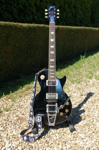 Mark Fawcett's Old Black Customised Gibson Les Paul